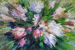 Χρωματίζοντας ακόμα τη σύσταση ελαιογραφίας ζωής, αυξήθηκε τέχνη impressionism Στοκ Φωτογραφίες