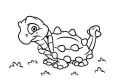 Χρωματίζοντας απεικονίσεις κινούμενων σχεδίων σελίδων Ankylosaurus δεινοσαύρων Στοκ εικόνες με δικαίωμα ελεύθερης χρήσης