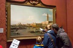 Χρωματίζοντας από Canaletto στο National Gallery, Λονδίνο Στοκ εικόνα με δικαίωμα ελεύθερης χρήσης