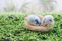 Χρωματίζοντας αυγό Στοκ Εικόνες
