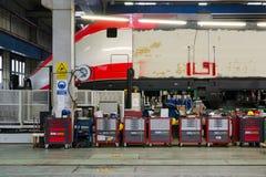 Χρωματίζοντας βαγόνι εμπορευμάτων ραγών Στοκ Φωτογραφίες