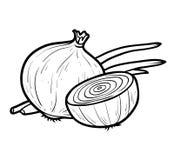 Χρωματίζοντας βιβλίο, άσπρο κρεμμύδι ελεύθερη απεικόνιση δικαιώματος