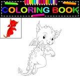 Χρωματίζοντας βιβλίο δράκων ελεύθερη απεικόνιση δικαιώματος