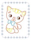 Χρωματίζοντας βιβλίο της χαριτωμένης κόκκινης γάτας της Pet ελεύθερη απεικόνιση δικαιώματος