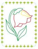 Χρωματίζοντας βιβλίο του χαριτωμένου κουδουνιού λουλουδιών ανοίξεων διανυσματική απεικόνιση