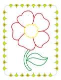Χρωματίζοντας βιβλίο του όμορφου λουλουδιού κόκκινων ανοίξεων ελεύθερη απεικόνιση δικαιώματος