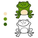 Χρωματίζοντας βιβλίο για τα παιδιά (βάτραχος) Στοκ φωτογραφία με δικαίωμα ελεύθερης χρήσης