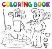 Χρωματίζοντας βιβλίο με το θέμα γκολφ Στοκ εικόνες με δικαίωμα ελεύθερης χρήσης
