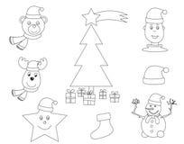 Χρωματίζοντας βιβλίο Χριστουγέννων διανυσματική απεικόνιση