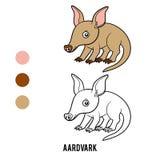 Χρωματίζοντας βιβλίο, Aardvark ελεύθερη απεικόνιση δικαιώματος