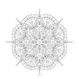 Χρωματίζοντας βιβλίο Mandala Διακόσμηση δαντελλών κύκλων Στοκ Εικόνες