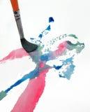 Χρωματίζοντας βούρτσα Στοκ φωτογραφίες με δικαίωμα ελεύθερης χρήσης
