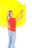 χρωματίζοντας γυναίκα Στοκ εικόνα με δικαίωμα ελεύθερης χρήσης