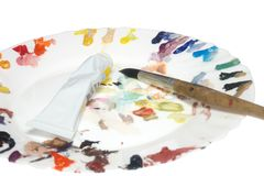 Χρωματίζοντας εξοπλισμός στοκ εικόνα με δικαίωμα ελεύθερης χρήσης