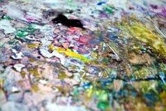 Χρωματίζοντας ζωηρόχρωμο αφηρημένο υγρό υπόβαθρο χρωμάτων Χρωματίζοντας σημεία Στοκ φωτογραφία με δικαίωμα ελεύθερης χρήσης