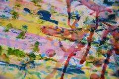 Χρωματίζοντας ζωηρόχρωμο ρόδινο κέρινο αφηρημένο υπόβαθρο watercolor Στοκ Εικόνες