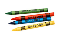χρωματίζοντας κραγιόνια Στοκ Εικόνες