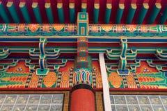 Χρωματίζοντας κτήρια και έπιπλα Κίνα Στοκ Φωτογραφίες