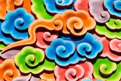 Χρωματίζοντας κτήρια και έπιπλα Κίνα Στοκ φωτογραφίες με δικαίωμα ελεύθερης χρήσης