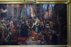 Χρωματίζοντας μέχρι τον Ιανουάριο Matejko το σύνταγμα της 3ης Μαΐου 1791 Στοκ εικόνες με δικαίωμα ελεύθερης χρήσης