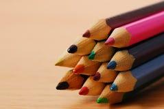 χρωματίζοντας μολύβια Στοκ Εικόνες