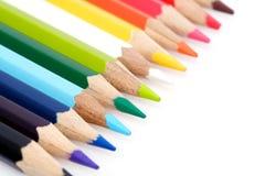 χρωματίζοντας μολύβια Στοκ εικόνα με δικαίωμα ελεύθερης χρήσης