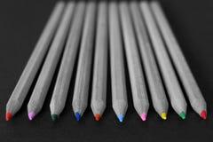 Χρωματίζοντας μολύβια Στοκ φωτογραφία με δικαίωμα ελεύθερης χρήσης