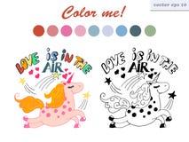 χρωματίζοντας μονόκερος βιβλίων Στοκ φωτογραφίες με δικαίωμα ελεύθερης χρήσης