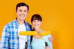 Χρωματίζοντας νέο σπίτι στοκ φωτογραφία με δικαίωμα ελεύθερης χρήσης