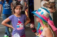 Χρωματίζοντας παιδιά προσώπου σώματος Στοκ Φωτογραφία
