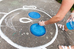 χρωματίζοντας παιδική χαρά Στοκ φωτογραφία με δικαίωμα ελεύθερης χρήσης