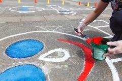 χρωματίζοντας παιδική χαρά Στοκ Φωτογραφίες