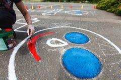 χρωματίζοντας παιδική χαρά Στοκ Εικόνες