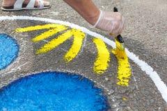 χρωματίζοντας παιδική χαρά Στοκ εικόνα με δικαίωμα ελεύθερης χρήσης