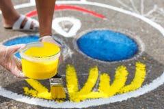 χρωματίζοντας παιδική χαρά Στοκ εικόνες με δικαίωμα ελεύθερης χρήσης