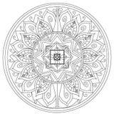 Χρωματίζοντας ράστερ λουλουδιών Mandala για τους ενηλίκους Στοκ εικόνα με δικαίωμα ελεύθερης χρήσης