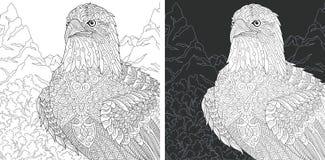 Χρωματίζοντας σελίδα αετών ελεύθερη απεικόνιση δικαιώματος