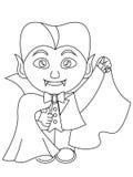Χρωματίζοντας σελίδα αποκριών Dracula Στοκ Εικόνα