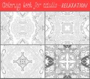 Χρωματίζοντας σελίδα βιβλίων για τους ενηλίκους - λουλούδι Paisley Στοκ Εικόνα