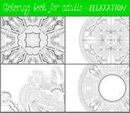 Χρωματίζοντας σελίδα βιβλίων για τους ενηλίκους - λουλούδι Paisley Στοκ εικόνα με δικαίωμα ελεύθερης χρήσης