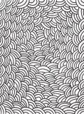Χρωματίζοντας σελίδα με το σχέδιο κυμάτων Μονοχρωματικό άνευ ραφής υπόβαθρο εικόνα για το σχέδιο Ιστού, κλωστοϋφαντουργικό προϊόν Στοκ Εικόνες