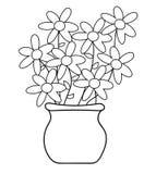 Χρωματίζοντας σελίδα δοχείων λουλουδιών Στοκ φωτογραφίες με δικαίωμα ελεύθερης χρήσης