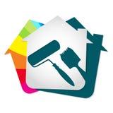 Χρωματίζοντας σπίτι Στοκ Εικόνες