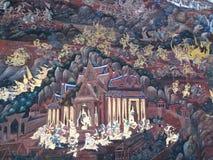 χρωματίζοντας ταϊλανδικός τοίχος Στοκ εικόνες με δικαίωμα ελεύθερης χρήσης