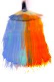 Χρωματίζοντας τη βούρτσα πολύχρωμη Στοκ φωτογραφία με δικαίωμα ελεύθερης χρήσης