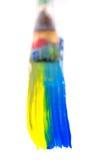 Χρωματίζοντας τη βούρτσα πολύχρωμη Στοκ Εικόνα