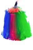 Χρωματίζοντας τη βούρτσα πολύχρωμη Στοκ Εικόνες