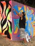 χρωματίζοντας τοίχος ψε&kap Στοκ Φωτογραφία