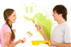 χρωματίζοντας τοίχος στοκ εικόνα