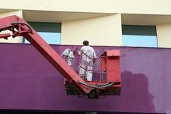 χρωματίζοντας τοίχος Στοκ εικόνες με δικαίωμα ελεύθερης χρήσης